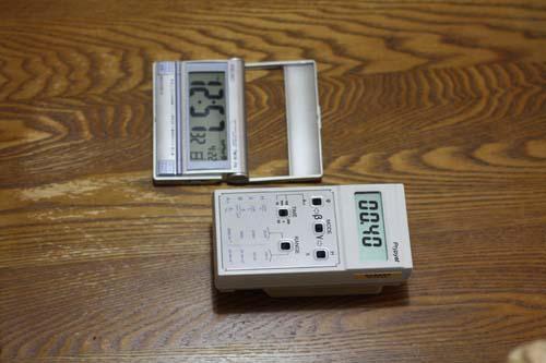 お米の放射能を測る前に空箱を測定